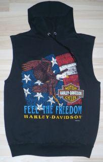 Vintage Hoody Harley Davidson Sleeveless Sweatshirt XL