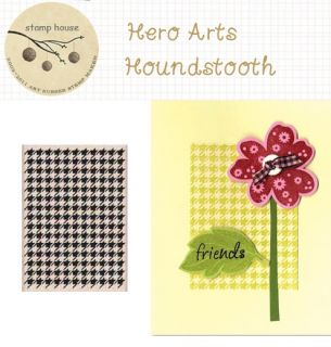 Decorative Stamps Hero Arts Rubber Stamp Houndstooth
