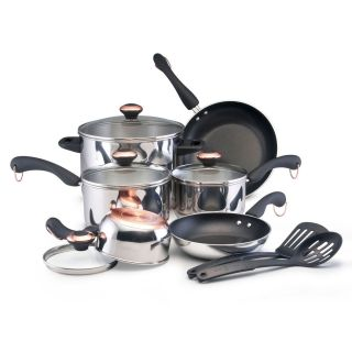 Paula Deen 12 piece Signature Stainless Steel Cookware Set 76744