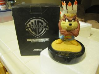 David Kracov Chief Eatumlots Ed Signed Num Tasmanian Devil Taz w Box