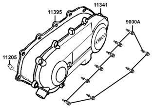 2003 Kymco Super 9 50cc scooter parts diagrams in pdf format