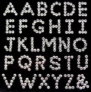 Diamante Alphabet Letters Rhinestone Vajazzle Gems