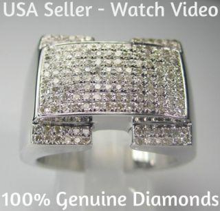 90 Carat Mens White Gold Finish Diamond Engagement Wedding Pinky Ring
