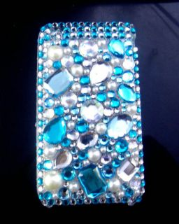 Diamond Crystal Bling Front & Back Hard Cover Case for iPhone 3G 3GS