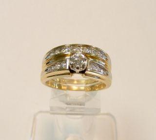 Mint 14k Gold 50cttw Diamond Keepsake Wedding Ring Set
