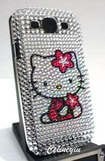 Bling Diamond Hello Kitty Back Cover Case for Samsung Galaxy S3 S III