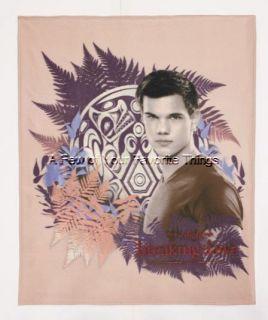 Jacob Twilight Breaking Dawn Saga Fleece Throw Blanket Bedroom Decor