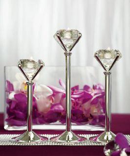 Table Decoration Diamond Shaped Tea Light Candle Holders