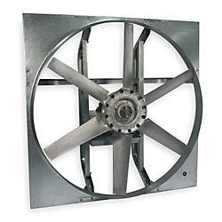 DAYTON Exhaust Fan, Heavy Duty Belt Drive Less Drive Pkg, 36 in, Model