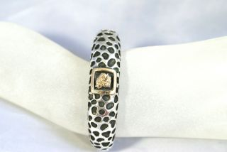Dian Malouf Authentic Sterling Silver Gold Cougar Cuff