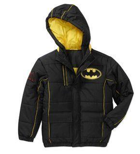 Boys DC Comics Batman Dark Knight Superhero Hooded Jacket