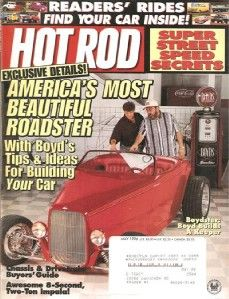 May 1996 Hot Rod 1949 T Bird 1955 Ford 57 Chevy Buildup Eight Second