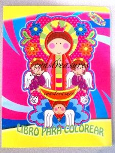 Yellow Libro de Colorear Activity Coloring Book Virgencita Plis