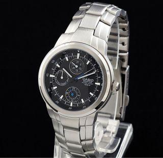 Reloj Hombre de Lujo Casio Edifice EF305D Acero Con 3 Esferas Nuevo Y