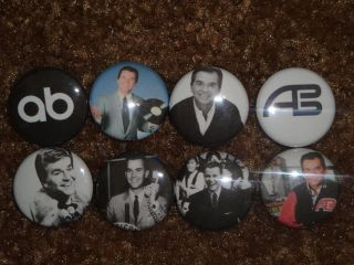 Dick Clark Buttons Pins Badges American Bandstand oldies Rock N New