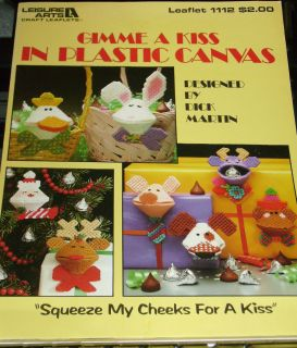 Plastic Canvas Patterns by Dick Martin Santa Reindeer Monkey