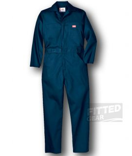Dickies Mens Long Sleeve Coveralls DN Navy Blue Heavy Duty Working