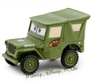 Cars 2 Sarge Jeep Diecast Collectors Case