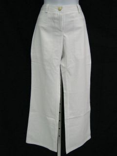 NWT CHRISTOPHER DEANE White Denim Trousers Jeans Pants Sz 2 $225