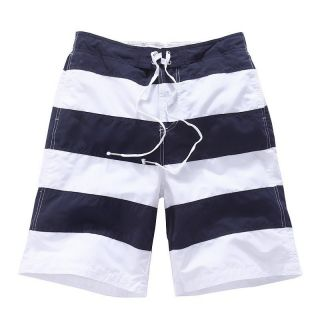 VANCL Digby Striped Beach Shorts Mens Boys Red Blue Navy Stripe Summer