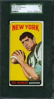 1965 Topps #122   Broadway Joe Namath (RC)   SGC 60   New York Jets