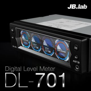 JB Lab DL701 Car Audio Digital Level Meter display Aux Time Stop watch