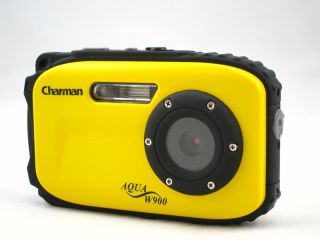 12MP underwater digital camera, 30ft waterproof, yellow, dustproof