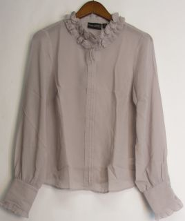 Pamela Dennis Sz s PCG Lace Front Blouse Top with Sheer Lavender New