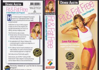 Denise Austin Fit and Fat Free VHS Video PAL A RARE Find