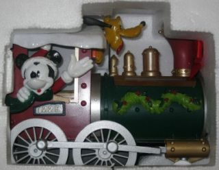 Disney Mickey Friends Christmas Tree Train Set IOB