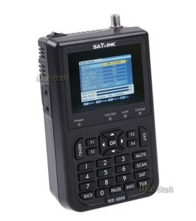 Satlink WS 6906 DVB s FTA Digital Satellite Finder Meter 3000mAh