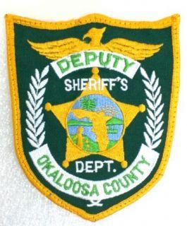 Florida Okaloosa County Deputy Sheriffs Department Shoulder Patch