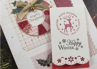 Decorative Stamps Rubber Stamp Christmas Rudolph