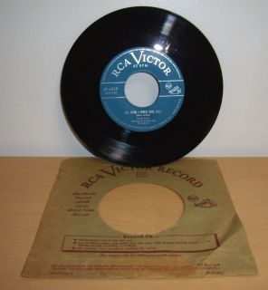 Vintage Dinah Shore 45 RPM record Oh How I Need You Joe The Lie De Lie