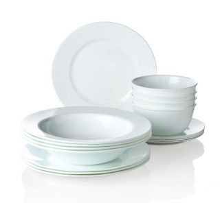 Joy Mangano Strokes of Color 16 piece Premier Dinnerware Set Features