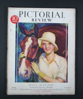 Pictorial Review Magazine Dolly Dingle Paper Doll Woman Horse