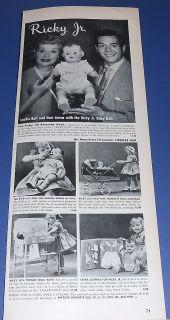 1953 I Love Lucy Lucille Ball Desi Arnaz Ricky Jr Baby Doll