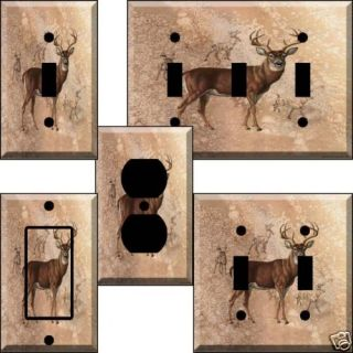 An VII Deer Buck Light Switch Cover Wall Plate