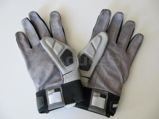 Beast Leather Lineman Football Gloves NFL Gray Black Many Sizes