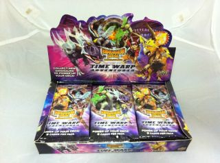 Dinosaur King Trading Card Game Time Warp Adventures Box of 24 x