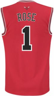 Derrick Rose Jersey adidas Revolution 30 Red Replica #1 Chicago Bulls