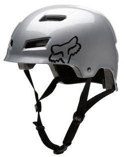 Fox Transition Hard Shell Bike Helmet Dirt Trail Silver Small