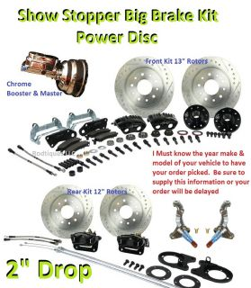 Big Disc Brake Conversion Kit 4 Wheel Show Stopper 64 72 GM A F x Body