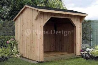 Firewood Storage Shed Plans Saltbox Roof 70808