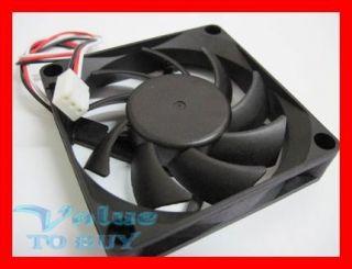 Computer PC Desktop CPU Replacement Fan 3 Pin 70mm Cool