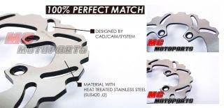 MC Rear Brake Disc Rotor Yamaha FZ XJR 400 FZR 600 1989 1993 1990 1991