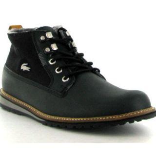 Lacoste Boots Delevan Fur Black Mens Casual Shoes Sizes UK 7 12