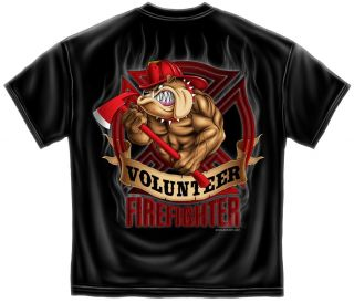 Volunteer Firefighter Bulldog Public Service Fireman T Shirt