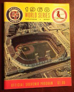 Detroit Tigers Baseball 1968 World Series Program @ Tiger Stadium ex
