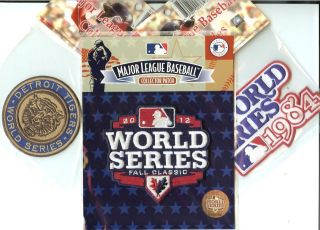 1968 1984 2012 Detroit Tigers World Series 3 Patch Combo 100 Official